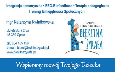 Gabinet terapeutyczny Błękitba Żyrafa - integracja sensoryczna